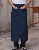 Jeans Bistro Apron with Split