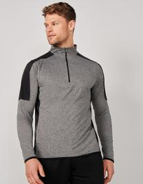 Adults 1/4 Zip Midlayer With Contrast Panelling